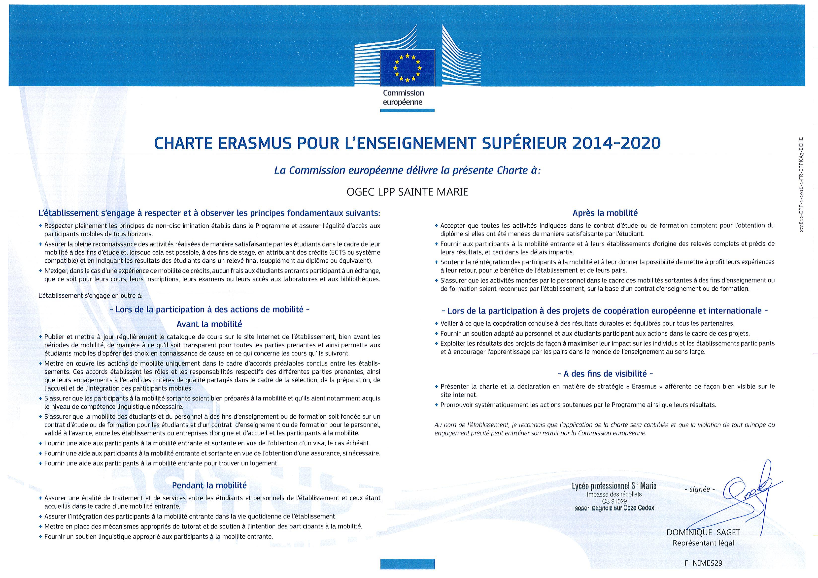 charte ERASMUS