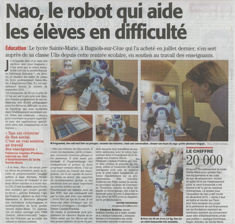 nao, le robot qui aide les élèves en difficulté 1-2