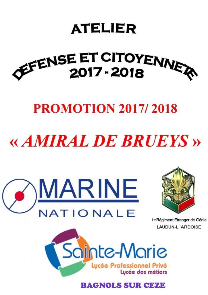 CD 2017-2018 AMIRAL DE BRUEYS