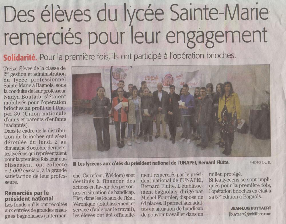 Des-élèves-du-lycée-Sainte-Marie-remerciés-pour-leur-engagement
